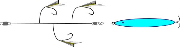 ジグサビキのイメージ