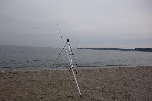 三浦海岸で投げ釣りしました