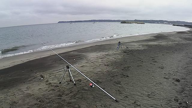 三浦海岸の釣り場の風景