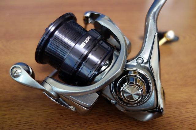 フリームスLT3000S-CXH用交換スプールの取り付けた写真