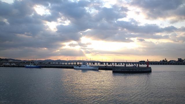 片瀬漁港での釣り風景