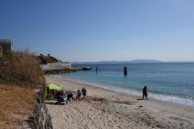 多々良浜中央地点から左側の風景写真