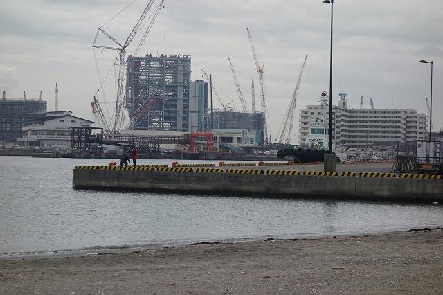 久里浜港の岸壁