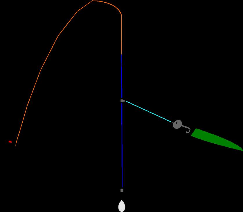 胴突きアジングの仕掛け図