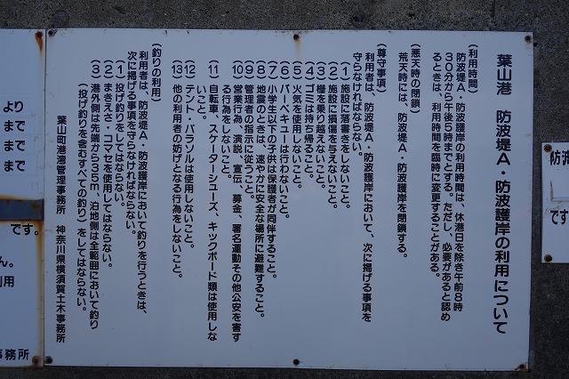 葉山港での釣り注意事項