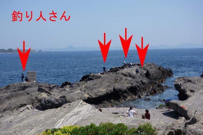 城ヶ島の釣り人状況1