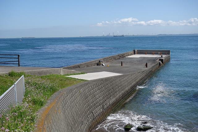 観音崎公園の堤防写真