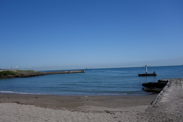 観音崎公園の砂浜写真