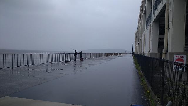 雨が降って釣り人が数人になりました。