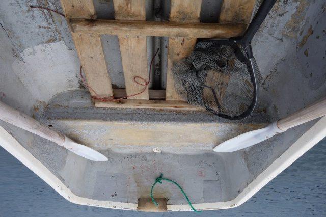 手漕ぎボート荷物レイアウトの例(船尾)
