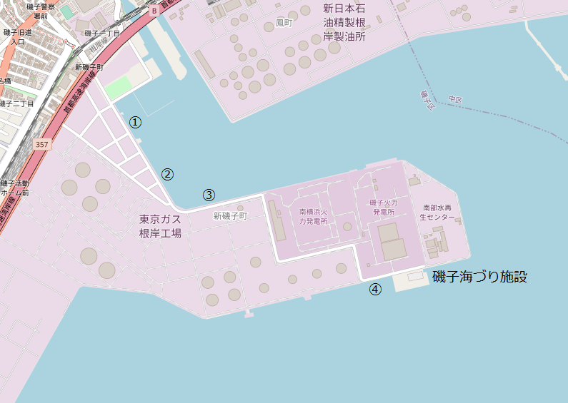 根岸港釣り地図