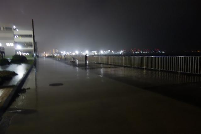 20210702夜のうみかぜ公園の混雑状況の写真