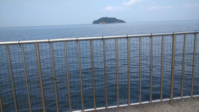 うみかぜ公園横岸壁の柵に網が設置された写真
